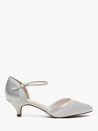 Rainbow Club Brianna Two Part Court Shoes, Ivory