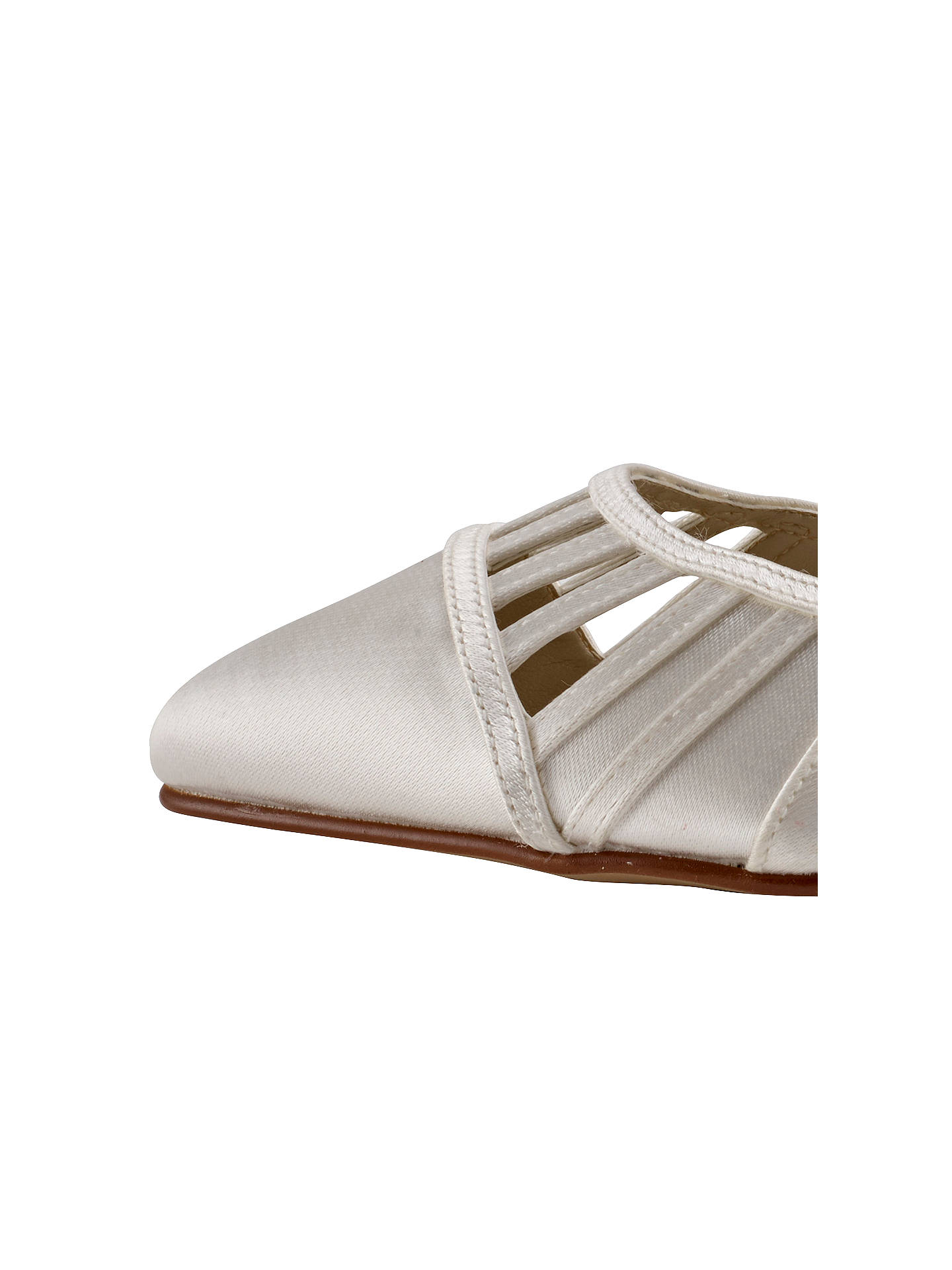 BuyRainbow Club Danni Cut Out Court Shoes, Ivory, 3 Online at johnlewis.com