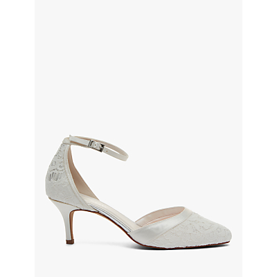 Rainbow Club Darcey Two Part Court Shoes, Ivory