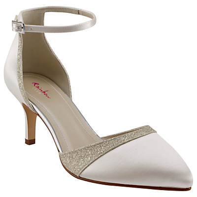 Rainbow Club Flo Two Part Court Shoes, Ivory