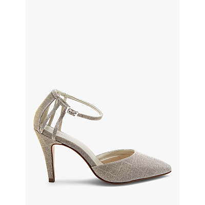 Rainbow Club Kennedy Two Part Court Shoes, Gold