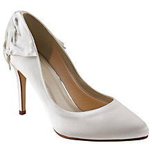 Buy Rainbow Club Lillie Bow Stiletto Heeled Court Shoes, Ivory Online at johnlewis.com