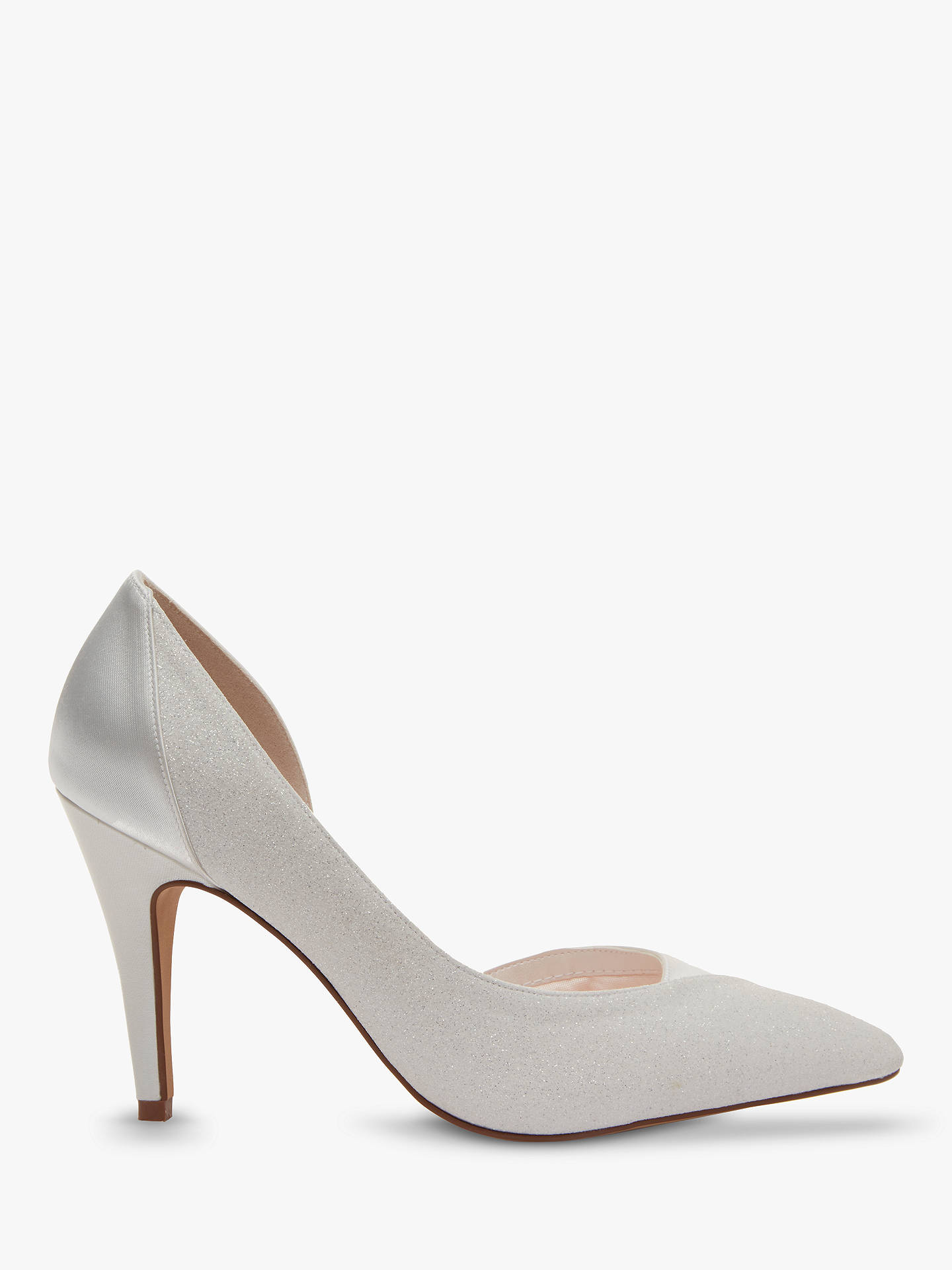 BuyRainbow Club Roux Pointed Toe Court Shoes, Ivory, 3 Online at johnlewis.com