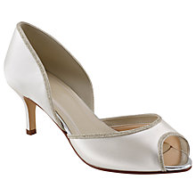 Buy Rainbow Club Matilda Peep Toe Court Shoes, Ivory Online at johnlewis.com