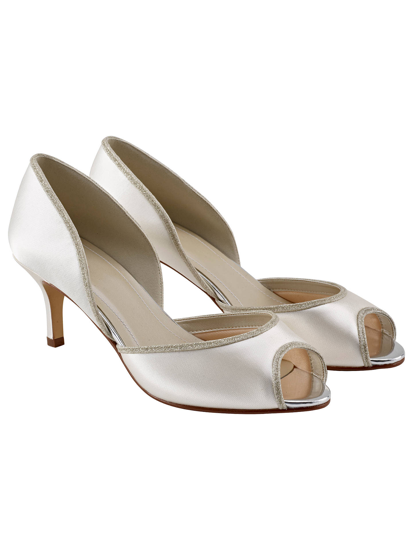 Buy Rainbow Club Matilda Peep Toe Court Shoes, Ivory, 3 Online at johnlewis.com