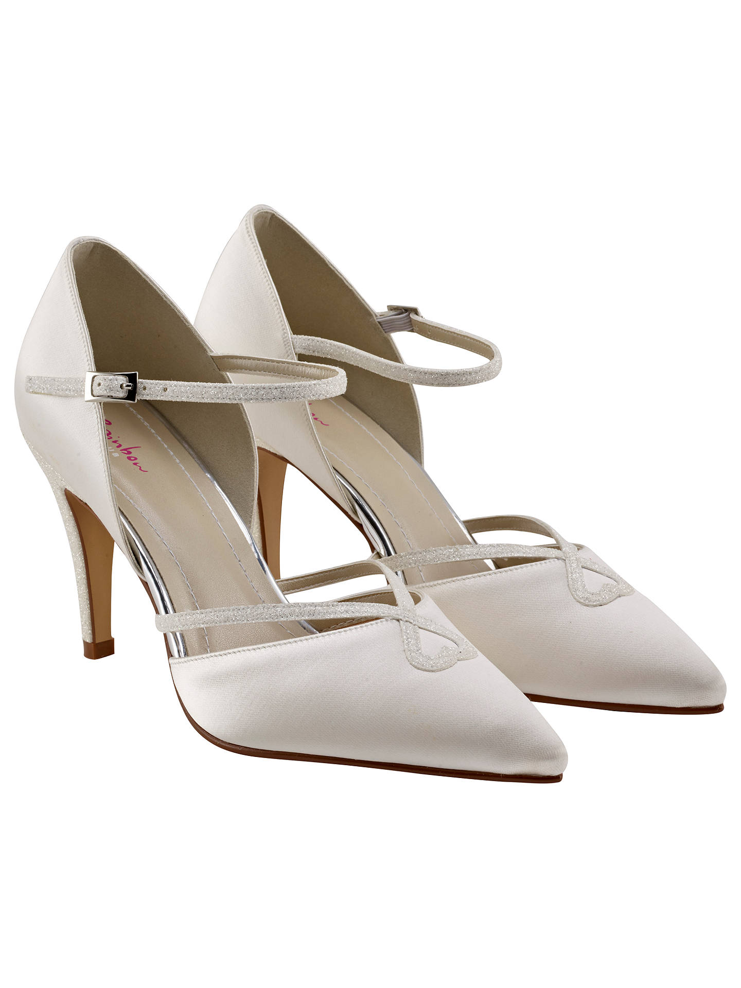 BuyRainbow Club Fleur Pointed Toe Court Shoes, Ivory, 3 Online at johnlewis.com