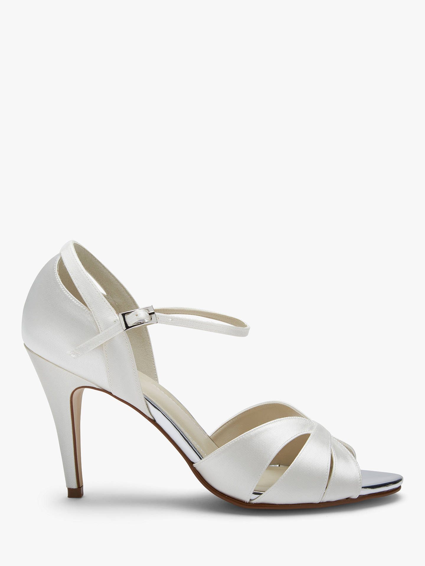 8d9b19fe778 Buy Rainbow Club Sue Peep Toe Sandals, Ivory, 3 Online at johnlewis.com ...