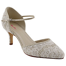 Buy Rainbow Club Priscilla Two Part Court Shoes, Ivory Online at johnlewis.com