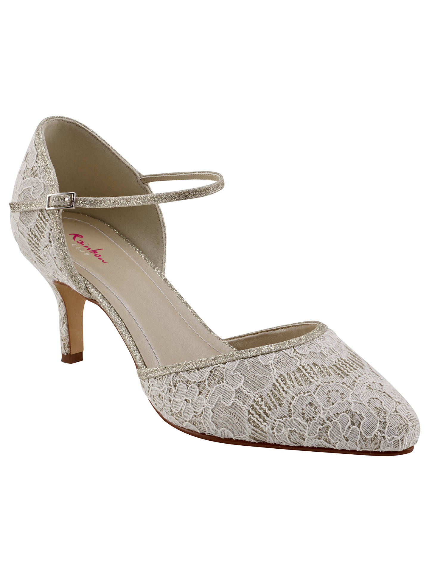 Buy Rainbow Club Priscilla Two Part Court Shoes, Ivory, 7.5 Online at johnlewis.com