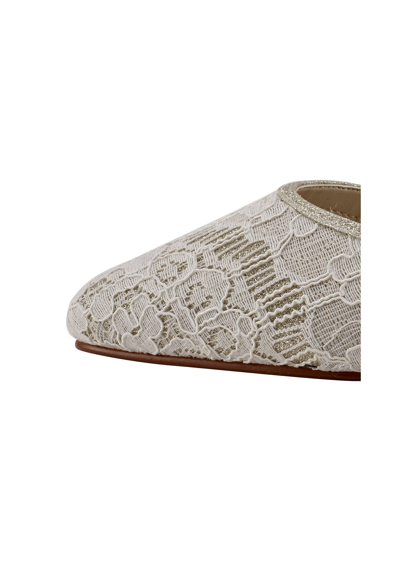 Buy Rainbow Club Priscilla Two Part Court Shoes, Ivory, 5.5 Online at johnlewis.com