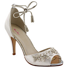 Buy Rainbow Club Zarah Peep Toe Sandals, Ivory Online at johnlewis.com
