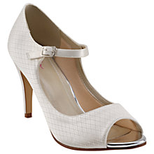 Buy Rainbow Club Peggy Peep Toe Court Shoes, Ivory Online at johnlewis.com