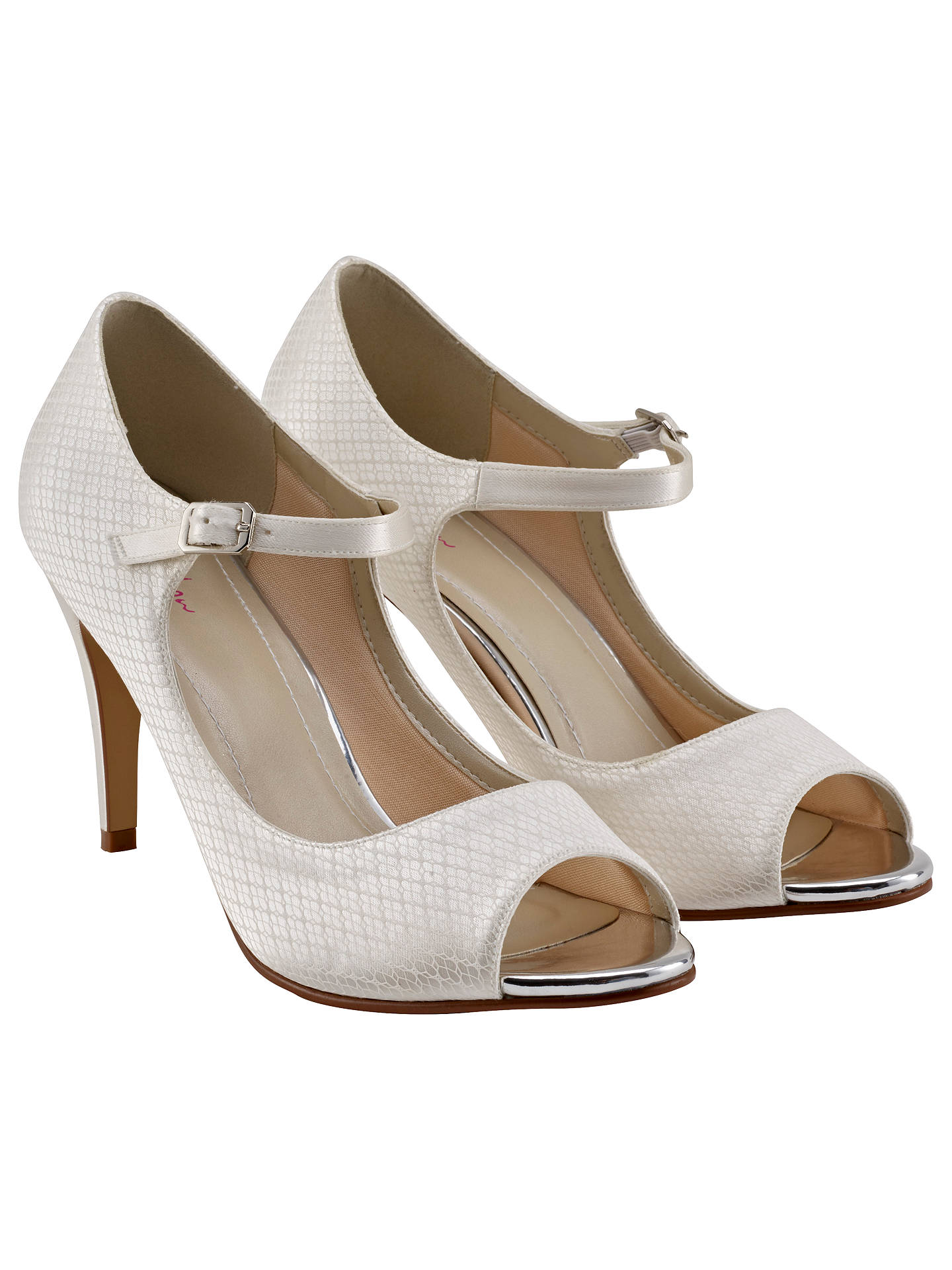 Buy Rainbow Club Peggy Peep Toe Court Shoes, Ivory, 3 Online at johnlewis.com