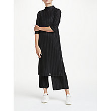 Buy PATTERNITY + John Lewis Plisse Pleated Dress, Black Online at johnlewis.com