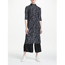Buy PATTERNITY + John Lewis Flow Print Pleated Dress, Black/Grey Online at johnlewis.com