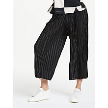 Buy PATTERNITY + John Lewis Plisse Culottes, Black Online at johnlewis.com