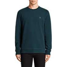 Buy AllSaints Raven Sweatshirt, Oil Blue Online at johnlewis.com
