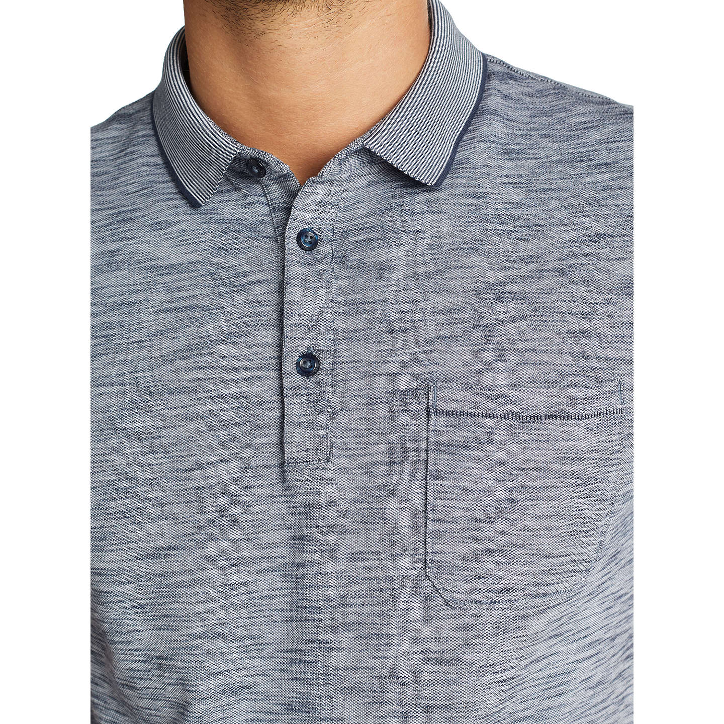 BuyBOSS Playful Short Sleeve Polo Shirt, Dark Blue, S Online at johnlewis.com