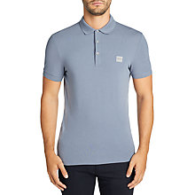 Buy BOSS Passenger Short Sleeve Polo Shirt, Open Blue Online at johnlewis.com