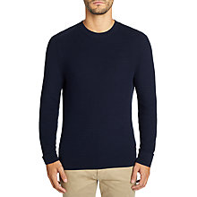 Buy BOSS Casual Kelvor Crew Neck Jumper, Navy Online at johnlewis.com