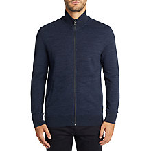 Buy BOSS Casual Zipped Sweatshirt Jacket, Dark Blue Online at johnlewis.com