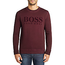 Buy BOSS Welan Garment Dyed Logo Sweatshirt Online at johnlewis.com