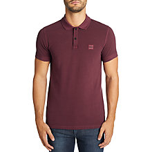 Buy BOSS Casual Prime Short Sleeve Polo Shirt, Open Red Online at johnlewis.com