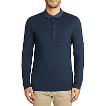 Buy BOSS Casual Principle Long Sleeve Polo Shirt, Blue Online at johnlewis.com