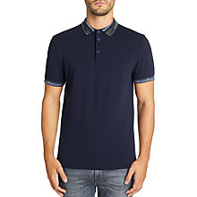 Buy BOSS Casual Porque Short Sleeve Polo Shirt, Dark Blue Online at johnlewis.com