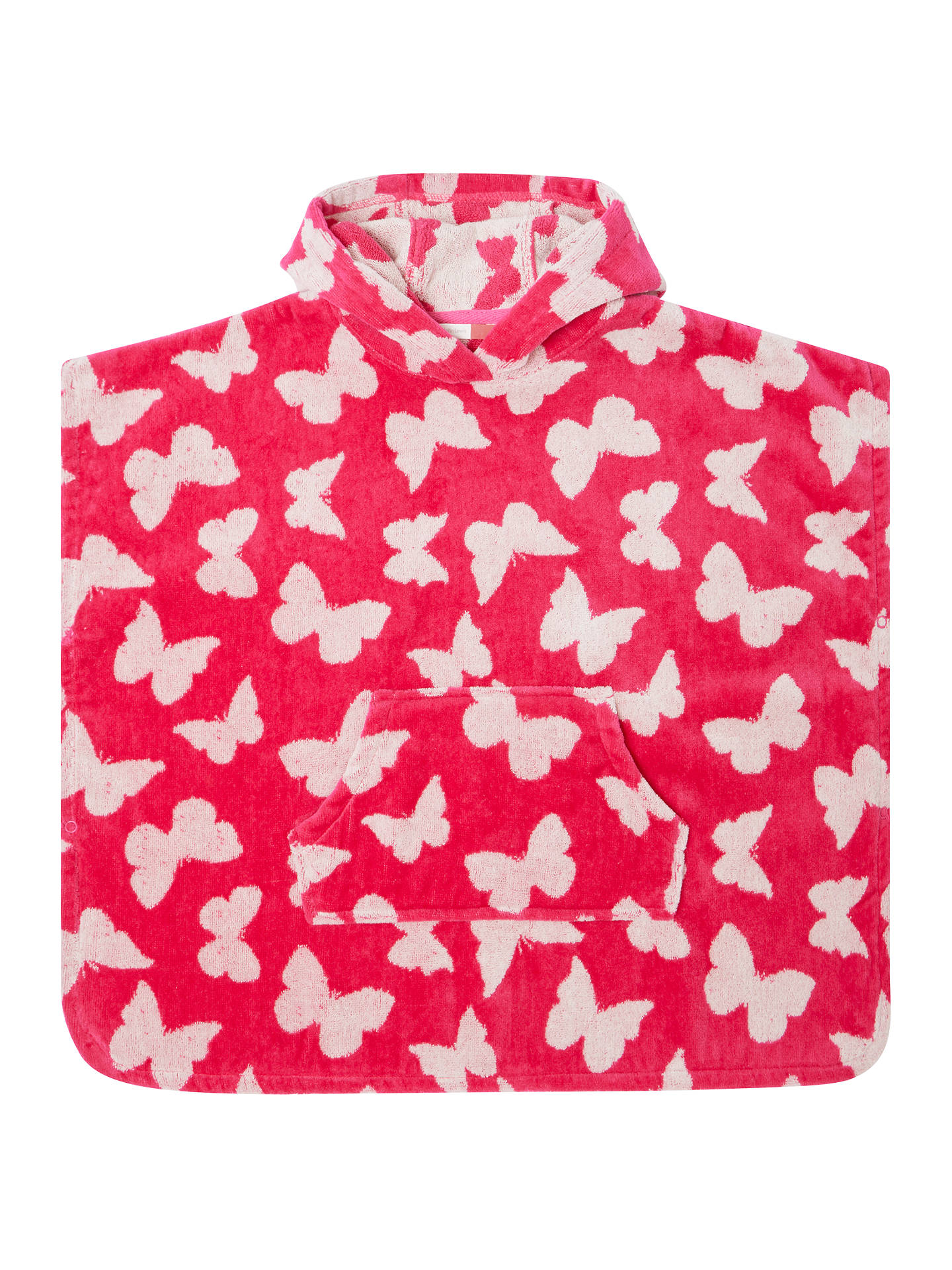 0421c8f99 Buy John Lewis & Partners Girls' Butterfly Towel Poncho, Pink, S Online at  ...