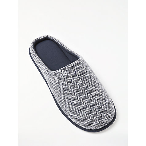 Buy John Lewis Zigzag Mule Slippers, Navy/White Online at johnlewis.com