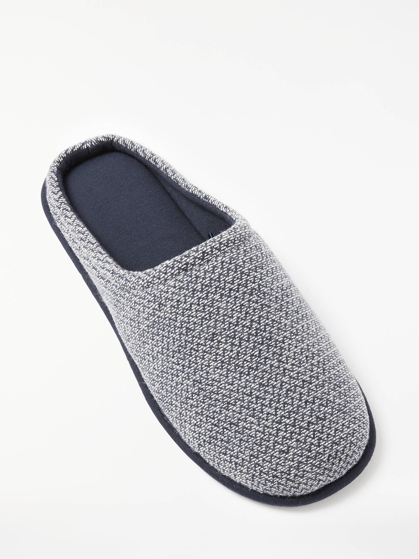 BuyJohn Lewis & Partners Zigzag Mule Slippers, Navy/white, S Online at johnlewis.com
