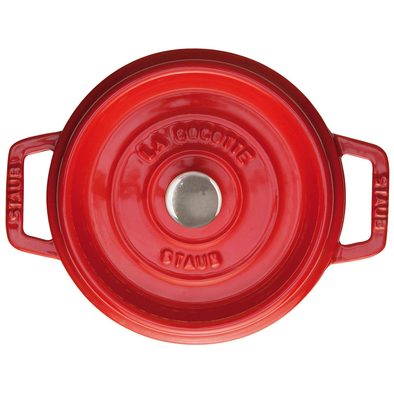 BuySTAUB Cocotte Round Cast Iron Casserole, Cherry, 20cm Online at johnlewis.com