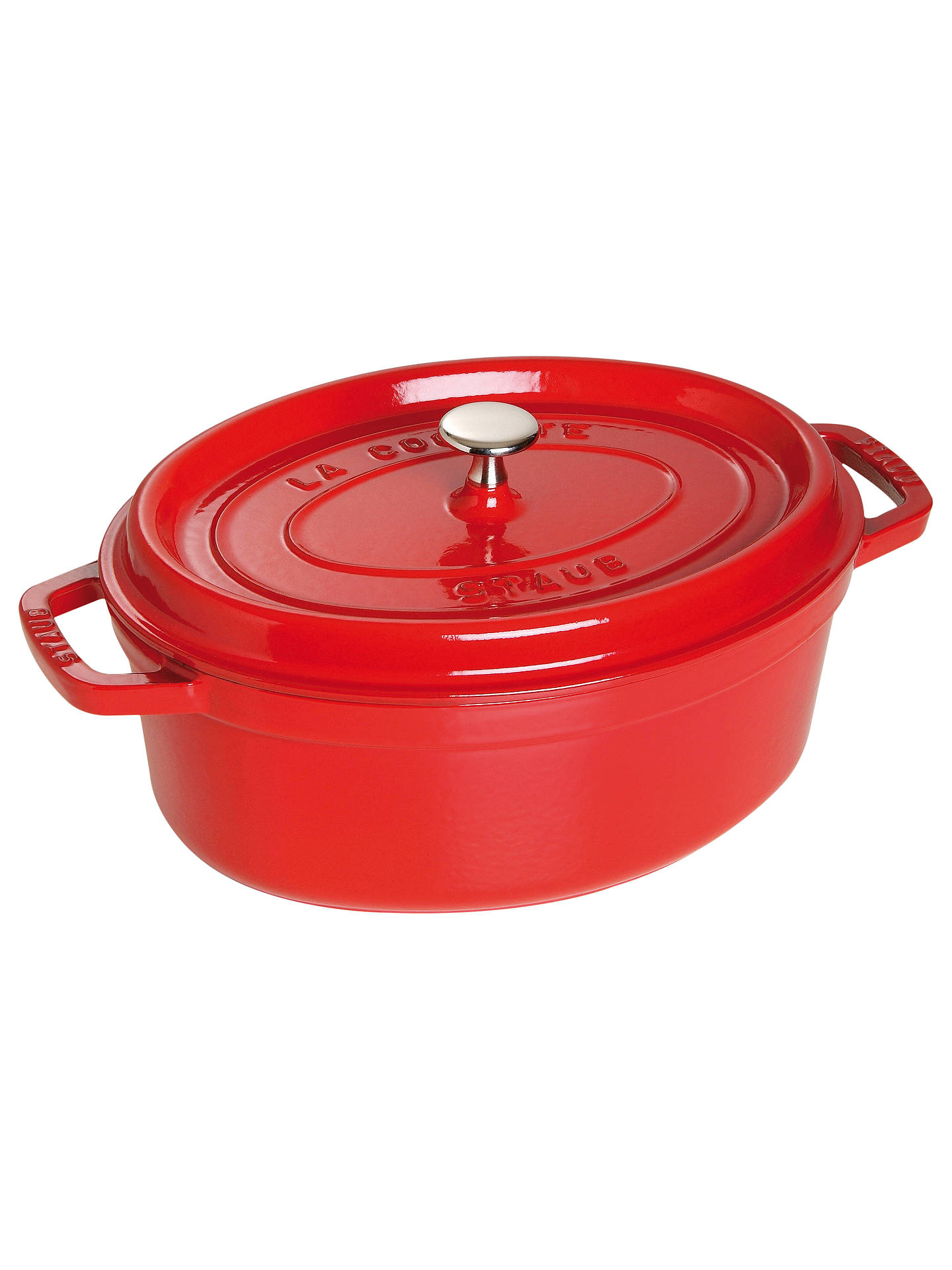 Buy STAUB Cocotte Oval Cast Iron Casserole, Cherry, 31cm Online at johnlewis.com