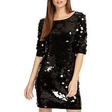 Buy Phase Eight Belda Sequin Dress, Black Online at johnlewis.com
