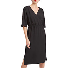 Buy Jaeger Drape Shoulder Midi Dress, Black Online at johnlewis.com