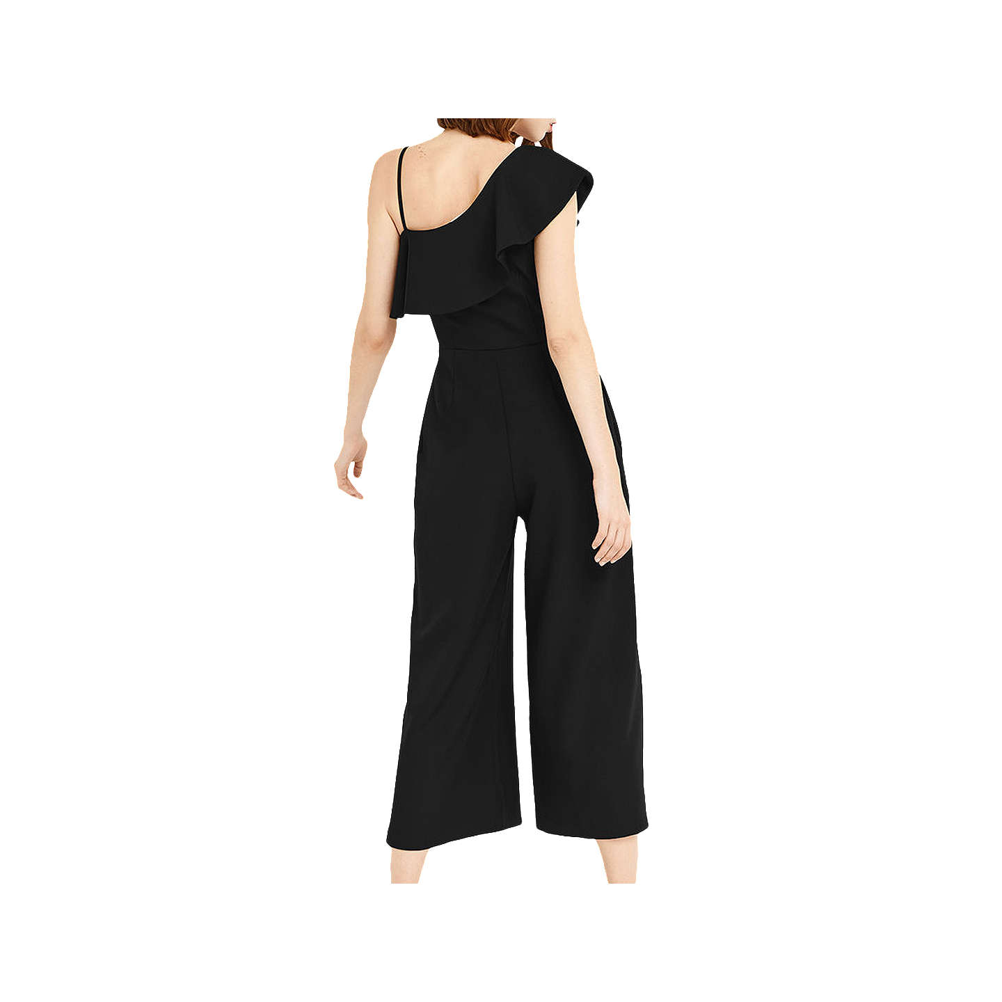 BuyOasis One Shoulder Jumpsuit, Black, 6 Online at johnlewis.com