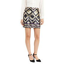 Buy Oasis Deco Aztec Sequin Skirt, Multi Online at johnlewis.com