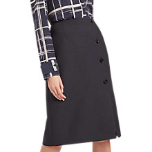 Buy Jaeger Wrap Button Skirt, Black Online at johnlewis.com