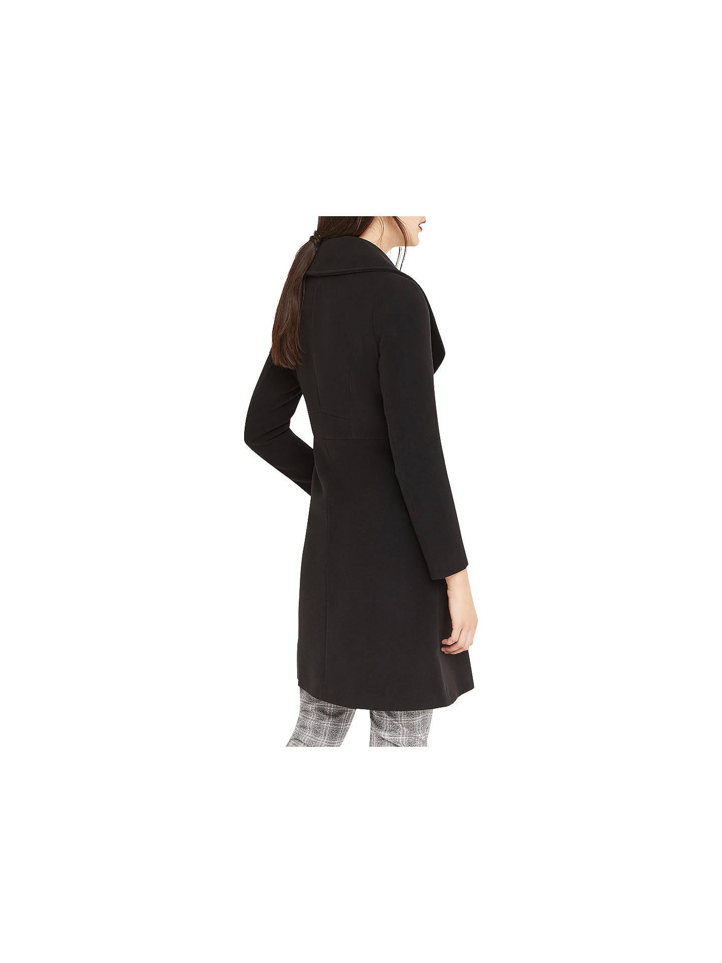631c45183824 ... Buy Oasis Lily Premium Skater Coat, Black, XS Online at johnlewis.com  ...