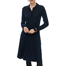 Buy Brora Collared Merino Cashmere Dress, Navy Online at johnlewis.com