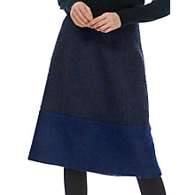 Buy Brora Boucle Tweed Skirt, Cobalt Online at johnlewis.com