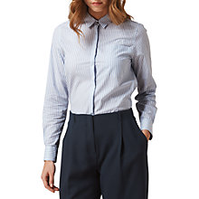 Buy L.K. Bennett Emile Striped Cotton Shirt, Blue Online at johnlewis.com