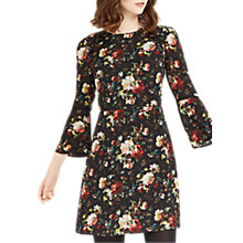 Buy Oasis Flute Sleeve Shift Dress, Multi Online at johnlewis.com