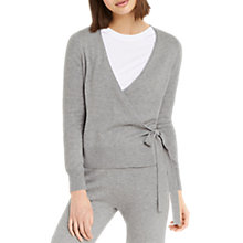Buy Oasis Ballet Wrap Cardigan, Dark Grey Online at johnlewis.com