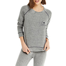 Buy Oasis Brunch Club Sweat Top, Pale Grey Online at johnlewis.com