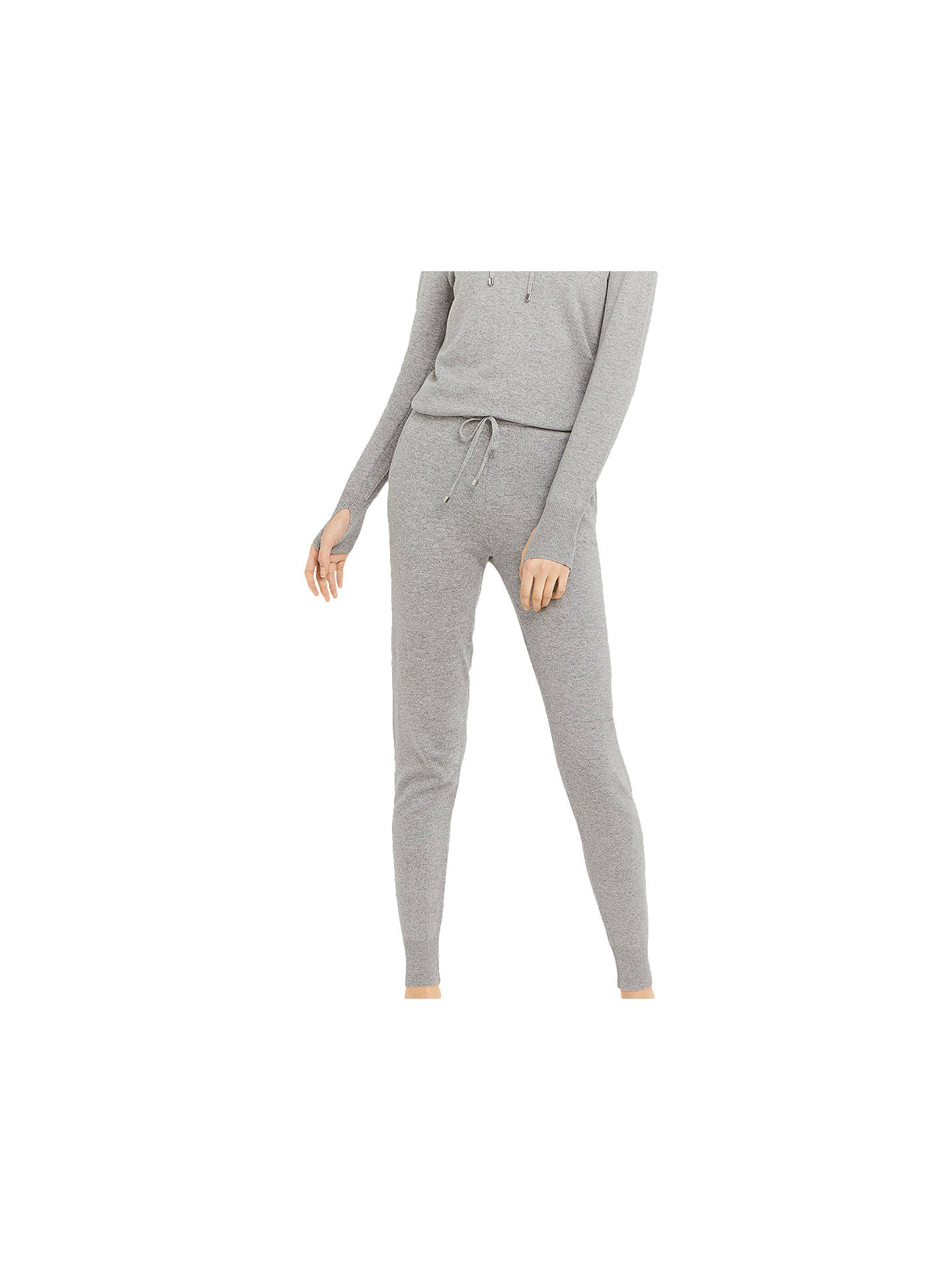 BuyOasis Knitted Jogger Trousers, Dark Grey, XS Online at johnlewis.com