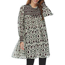 Buy Brora Pure Silk Chiffon Swing Dress, Auburn Folk Online at johnlewis.com
