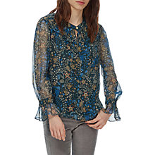 Buy Brora Liberty Print Silk Chiffon Blouse, Midnight Garden Online at johnlewis.com