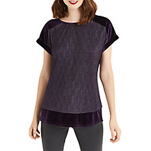 Buy Oasis Crinkle Foil Top, Mid Purple Online at johnlewis.com